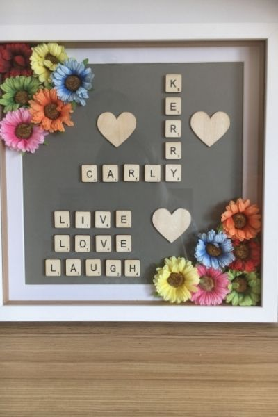 Personalised frame with tiles