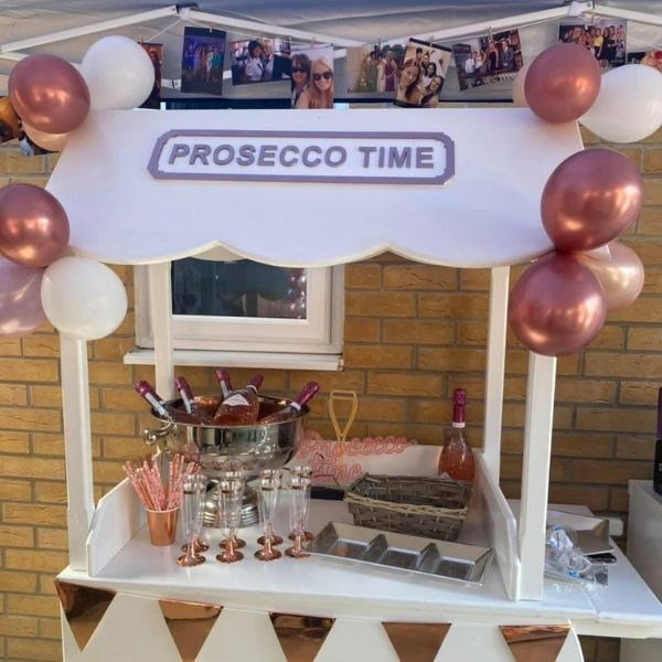 Prosecco Cart for hen party by That Finishing Touch
